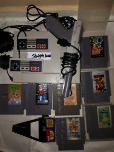 Working Original Nintendo With 7 Games And Game Genie