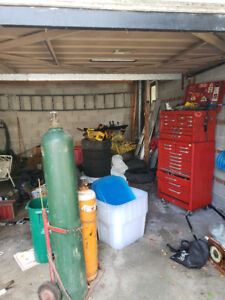 oxygen acetylene tanks and caddy and regulators and cutting tip
