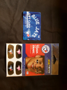 Blue Jays gift card and eye patches