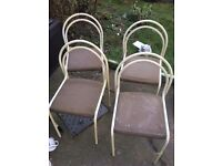 SET OF 4 METAL CHAIRS ** FREE DELIVERY AVAILABLE TONIGHT **