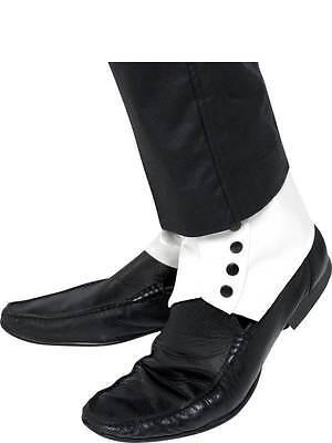 Gamaschen, Weiß Schwarz Knöpfe, 1920'S Kostüm, Gangster, Moll / - Gangster Flapper Kostüm