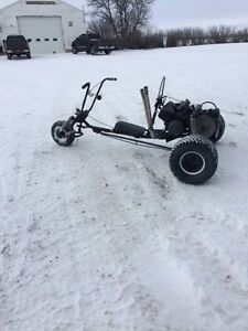 Chopper Trike    with skidoo motor.