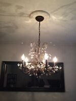 Dining room light with two matching hall lights