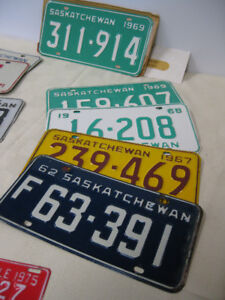 License Plates -- FROM PAST TIMES Antiques  - 1178 Albert St