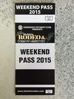 Looking for  Holstein rodeo ticket