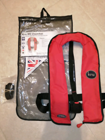 Kru Automatic Lifejackets x2, 180N, Adult, Never deployed