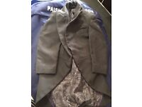 Young boys toddler 5 piece wedding page boy suits grey