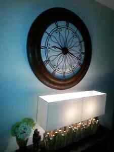 LARGE Pottery Barn Rustic Clock..moving sale