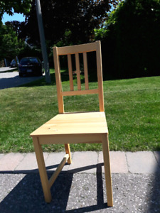 Beautiful Ikea Pine Chair