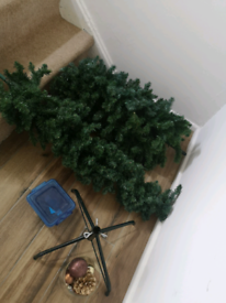 Christmas tree with light and decorations Christmas tree with light an