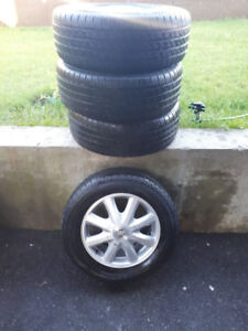 All Season Tires with Rims - Used