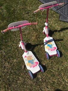 2 - 3 wheel Barbie Scooters