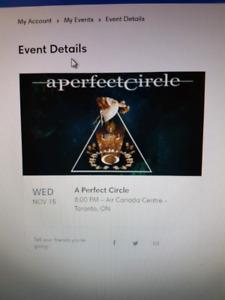 A Perfect Circle tickets (pair) - Nov. 15 - Toronto