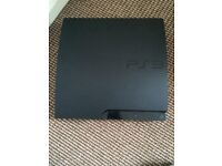 PS3 console with 2 pads and 2 games