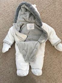 John Lewis baby snow suit