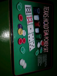 BRAND NEW POKER SET NEVER USED BY GAME NIGHT