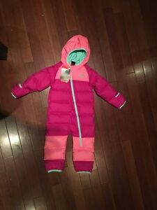 New North Face Lil Snuggler Down Snowsuit, 18-24 mo