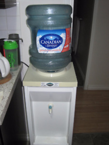 Cold water cooler with empties