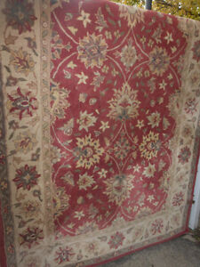 100% WOOL CARPET 8' x 5' 4' Area RUG Thick & Heavy