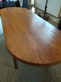 G Plan fresco d end solid teak coffee table