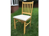 I have one kitchen or dining table chair in good clean condition