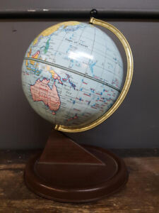 Chad Valley England Lithographed Tin Globe Late 1940s Post WW2