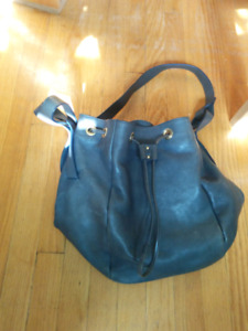 Real leather bucket bag Anthropologie