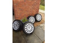 Vw 17 inch alloys and tyres