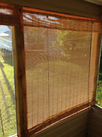 """BAMBOO curtains for sale 2x48"""" asking $30.00 1x36"""" asking $15.00"""