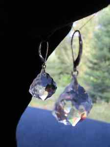 Crystal Drop Lever-Back Earrings *NEW*