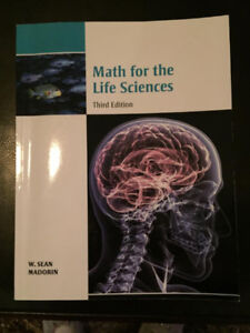Math For The Life Sciences - Third Edition- text book as new