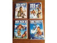 Ice Age 1 , 2 , 3 & 4
