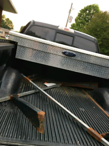 Truck tool box and ladder rack for sale!