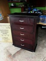 Five Drawer Tall Dresser