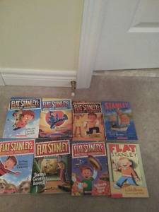 Flat Stanley books-$2 each for 8 for $13.50