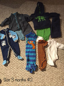 Baby boys clothes size 3 months