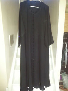Brand New Black Abaya with heavy emboridery on front