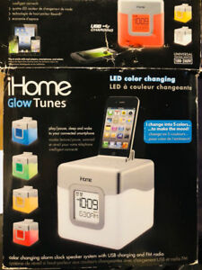 Brand New in Box  ! iHome Glow Tunes LED Clock: : Free Delivery