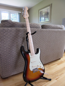 Electric Guitars (Fender, Fret-King, Ibanez, Squier)