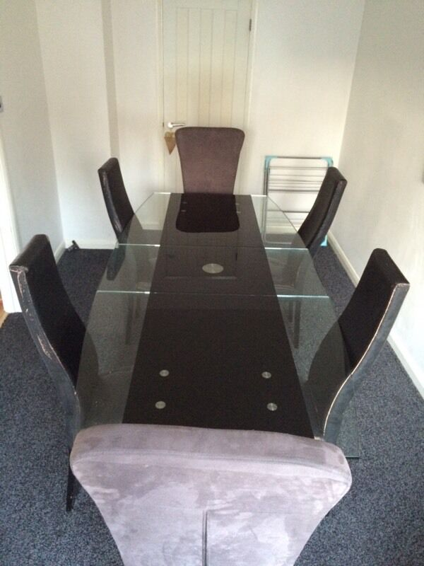 Furniture Village Glass Dining Table