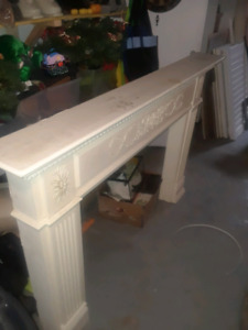 Fireplace white mantle