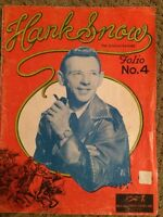 1956 Vintage Hank Snow Music Book