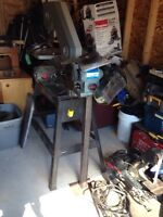 Bandsaw & bench grinder with stand & custom router with table