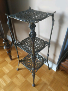 *Antique Wrought Iron Plant Stand table*