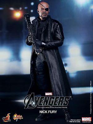 "HOT TOYS Avengers Nick Fury Samuel L. Jackson 12"" Figure"