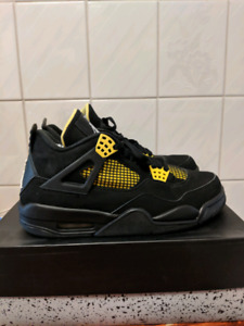 Air Jordan 4 Thunder Custom size 9.5