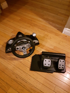 PS2/PS3/ PC Gaming steering wheel and peddles