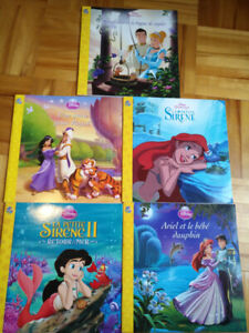 Lot de 5 livres de princesses phidal Disney