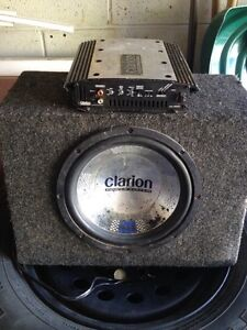Clarion Sub and Amp