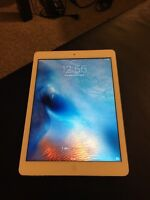 White iPad Air 32GB with case and box mint condition